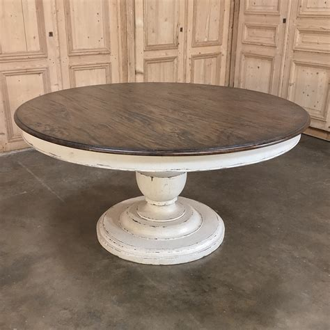 reproduction painted pedestal dining table