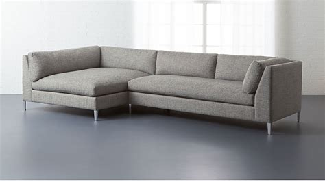 Cb2 Loveseat by Cb2 Sectional Sofa Decker 2 Large Grey Sectional