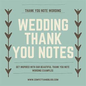 wedding thank you note wording generous wedding gifts With wedding gift thank you notes