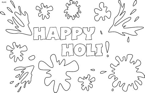 Holi Coloring Pages - Democraciaejustica