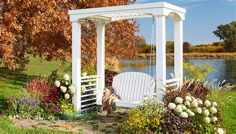 Outdoor Swing Bench by Arbor With Swing