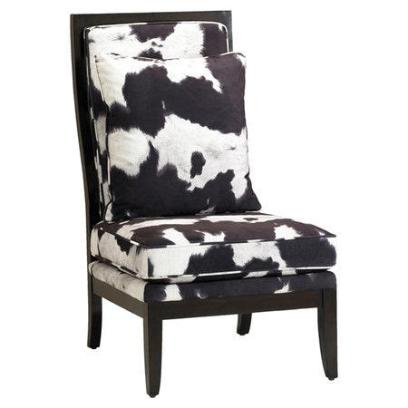Faux Cowhide Chair by Faux Cowhide Accent Chair With Birch Wood Framing Product