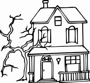 coloriage maison hantee halloween a imprimer sur With dessin de maison facile