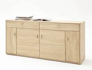 Sideboard Eiche Bianco : sideboard torrent 2 eiche bianco massiv 184x89x45 cm anrichte schrank kaufen bei vbbv gmbh ~ Buech-reservation.com Haus und Dekorationen