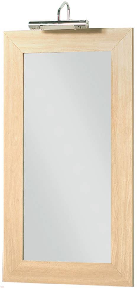 maple bathroom mirror and light at plumbing uk
