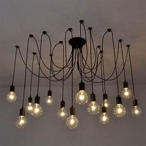Vintage edison industrial style chandelier pendant lights