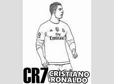 Ronaldo CR7 kolorowanka do druku malowanka kolorowanki