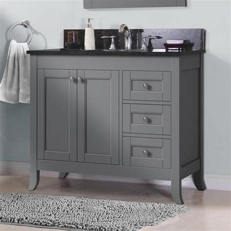 """At american standard it all begins with our unmatched legacy of quality and innovation that has lasted for more than 140 years.we provide the style and performance that fit perfectly into the life, whatever that may be. Magick Woods Elements Ashwell 36""""W x 21""""D Bathroom Vanity Cabinet at Menards®"""