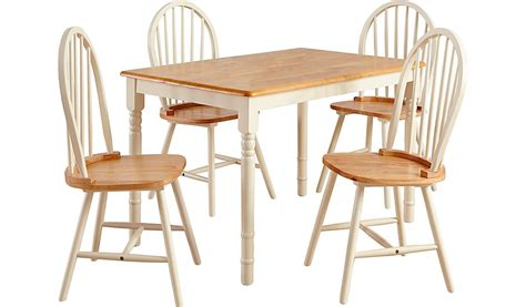 yvette rectangular dining table and 4 chairs oak effect