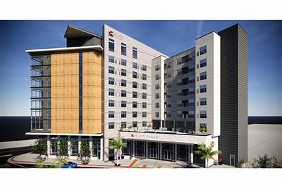 Hyatt Place Hotel Downtown Proposed Jacksonville Aerial