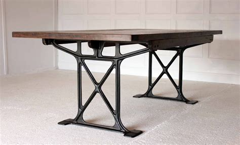 Industrial Work Table  Trendfirst. Retro Tables. Patio Table Base. Countertop Height Table. Faux Marble Desk. Table Base Kit. Rustic Round Coffee Table. Tall Small Table. Backgammon Table