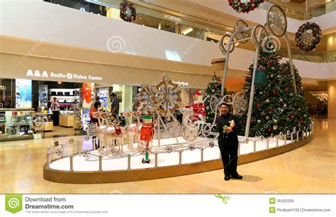 christmas decorations shopping decoration in shopping mall editorial image image 35422305