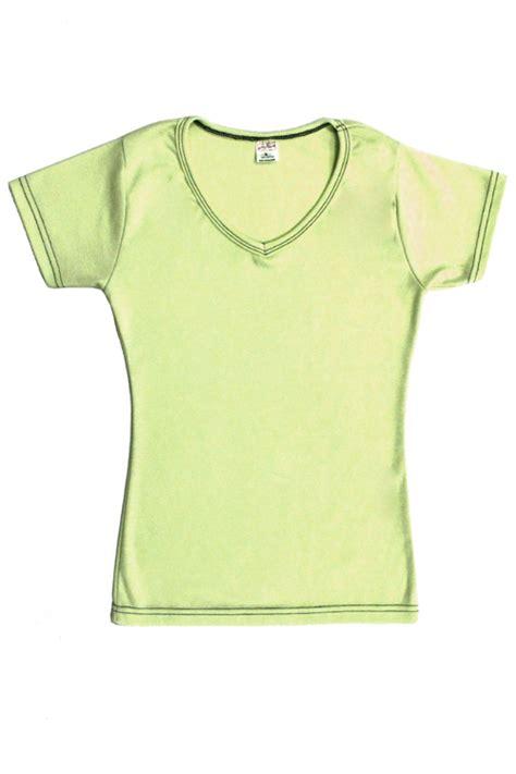 womens cotton  neck  shirt lime green