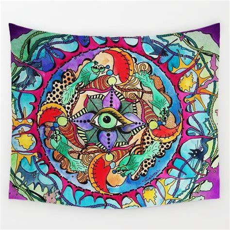 trippy world tapestry