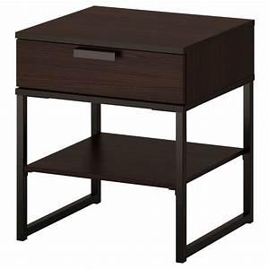 TRYSIL Table Chevet Brun Foncnoir 45x40 Cm IKEA