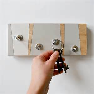 wall decor fog key holder geometric key rack modern by pigandfish