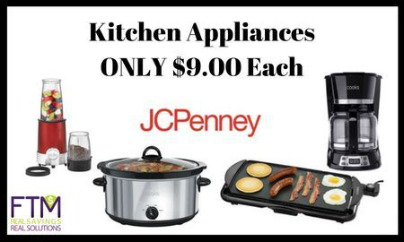 JCPenney: Small Kitchen Appliances For ONLY $9.00 (Reg $40