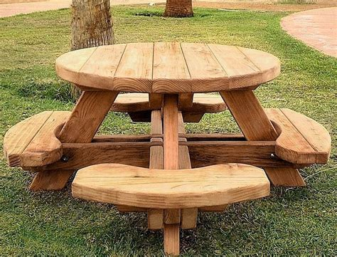 round wooden outdoor table best round wood picnic table kitchen and dining tables