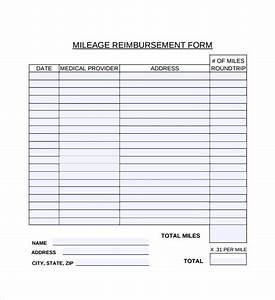 free expense reimbursement form template free 8 sample mileage reimbursement forms in pdf ms word