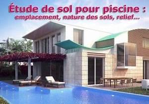 Etude De Sol Obligatoire Pour Vendre Un Terrain : tude de sol pour piscine emplacement nature des sols ~ Premium-room.com Idées de Décoration