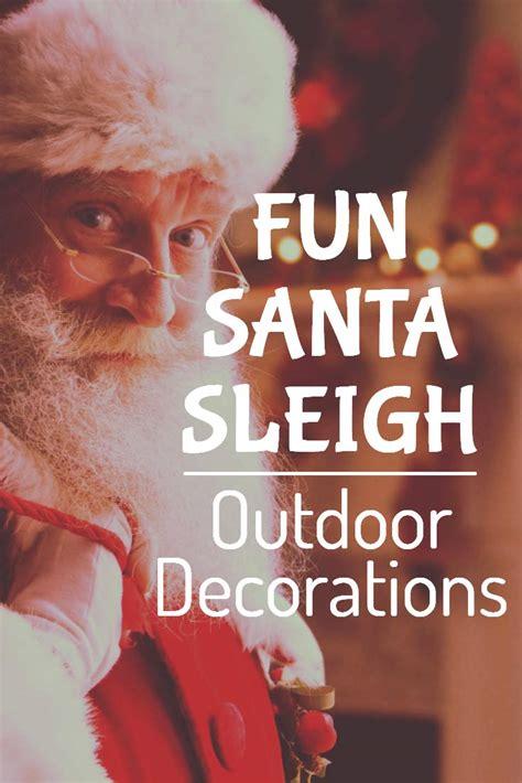 santa sleigh outdoor decoration christmas prep
