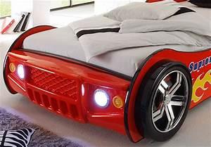 Autobett Selber Bauen : autobett kinderbett energy bett kinderzimmerbett rot lackiert inkl beleuchtung ~ Watch28wear.com Haus und Dekorationen
