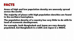 GEOGRAPHY IGCSE: POPULATION DENSITY AND DISTRIBUTION