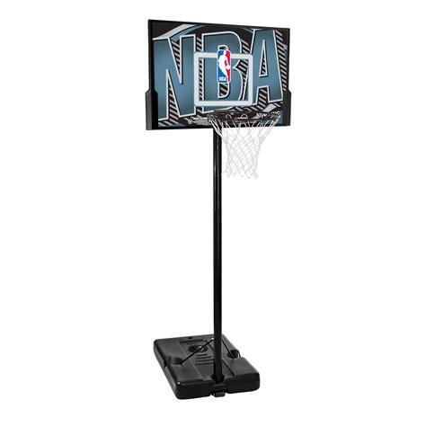 spalding nba logo composite portable basketball system