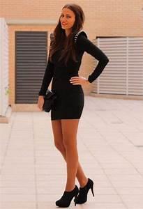 Vestidos cortos color negro de moda casual   AquiModa.com