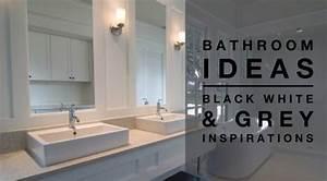 Bathroom Ideas - Black White & Grey Colour PaletteDesign