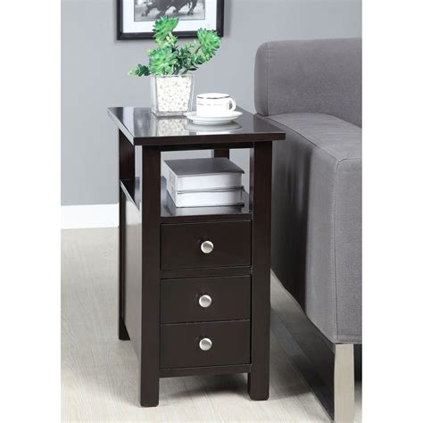 Table With Cabinet And Drawer by This Functional Side Table Has One Pull Out Drawers For