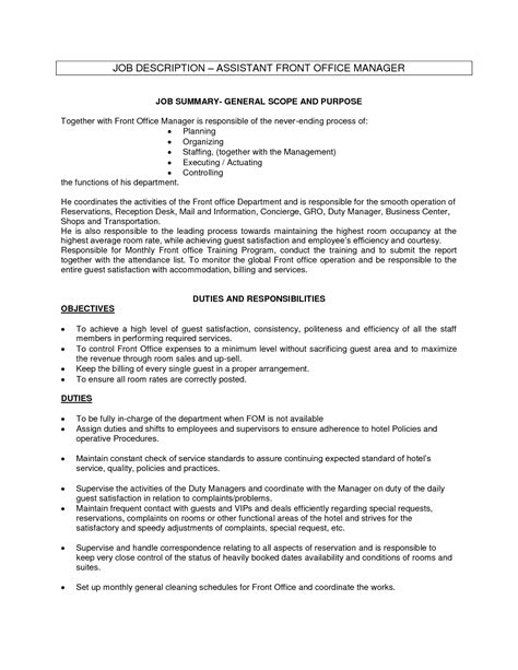sample resume for office manager position office assistant job description sample recentresumes com