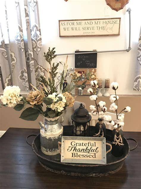 farmhouse style centerpiece  dining table