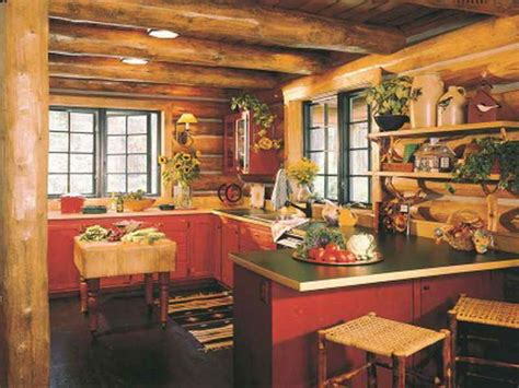 cabin decorating ideas kitchen log cabin kitchens design ideas rustic curtains