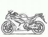 Coloring Motorcycle Pages Printable sketch template