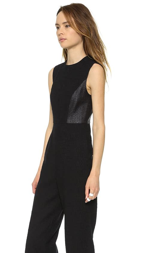 lulus jumpsuit whistles lulu jumpsuit black in black lyst