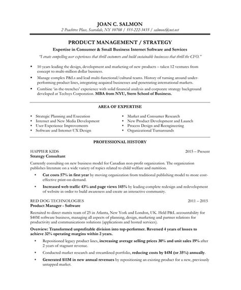 Manager Resume Format by Product Manager Resume Jvwithmenow