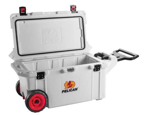 i you whereever you are 2 pelican progear cooler with wheels 80 quart white