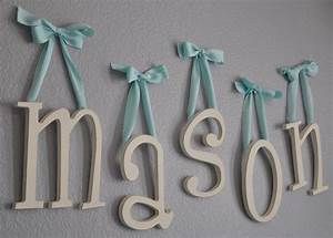 mason39s lovely nursery hanging wooden letters hanging With hanging wooden letters nursery