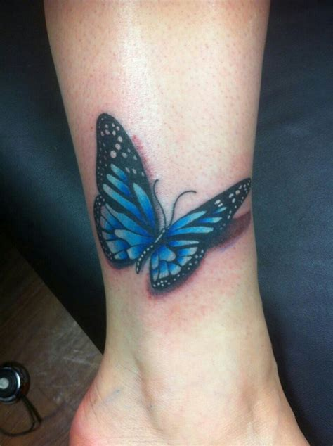 cute ankle butterfly tattoos