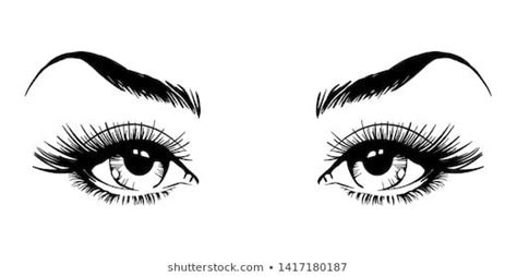 Eyebrow sketch at paintingvalley com explore collection of. Similar Images, Stock Photos & Vectors of Abstract fashion ...