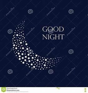 Moon And Stars Background. Good Night. Stock Illustration ...