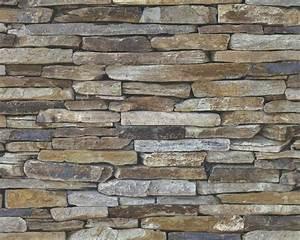 vliestapete stein optik naturstein braun as creation 9142 17 With balkon teppich mit wood and stone tapete