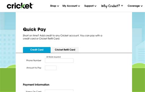 pay cricket phone bill paying your www mycricket bill