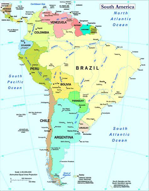 south america map south america atlas south america