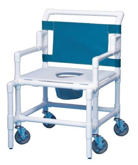 pvc bariatric shower commode chair 22 inch by mckesson