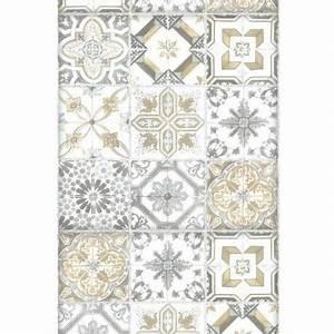 Papier Peint Carreau Ciment : panoramique carreaux de ciment beige bon app tit caselio ~ Melissatoandfro.com Idées de Décoration
