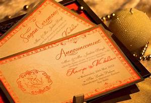 elegant orange voguish wedding invitations With luxury wedding invitations delhi