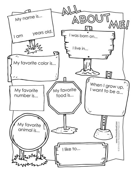All About Me Worksheet Printable  Inglês Para Crianças  Pinterest  Worksheets, School And English