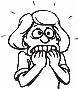 Scared Cartoon Girl - Cliparts.co